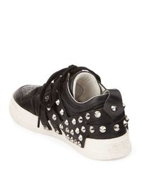 Ash - Black Extra Studded Lace-up Sneaker - Lyst
