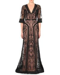 Temperley London | Black Bertie Embroidered Tulle Gown | Lyst