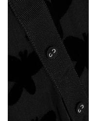 Band of Outsiders | Black Flocked Chiffon Maxi Dress | Lyst