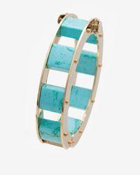 Lele Sadoughi | Stone Cube Slider Bracelet Egyptian Blue | Lyst
