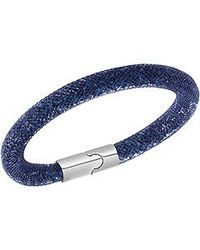 Swarovski | Blue Stardust Crystal Bangle Bracelet | Lyst
