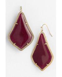 Kendra Scott - Red 'alexandra' Large Drop Earrings  - Lyst