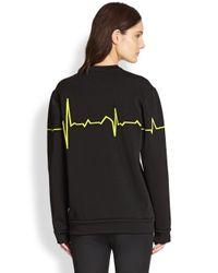 Alexander Wang - Black Heartbeat Pullover - Lyst