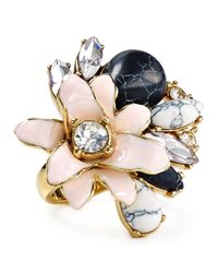 kate spade new york | Multicolor Glossy Petals Ring | Lyst