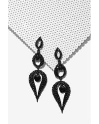 Nasty Gal | Black Tears Of Joy Crystal Earrings | Lyst
