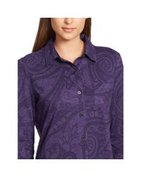 Ralph Lauren - Purple Lightweight Cotton Sleep Shirt - Lyst