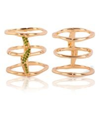 Vara Of London | Metallic The Bamboo Leaves Ring | Lyst