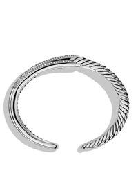 David Yurman - Metallic Labyrinth Double-loop Cuff With Diamonds - Lyst