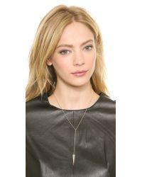 Elizabeth and James - Metallic Nyos Lariat Necklace Yellow Gold - Lyst