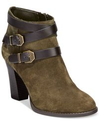 INC International Concepts | Green Jaydie Suede Booties | Lyst