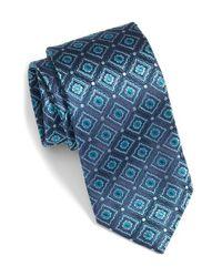 Bugatchi | Blue Medallion Silk Tie for Men | Lyst