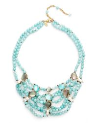 Alexis Bittar - Blue Multistrand Collar Necklace - Lyst