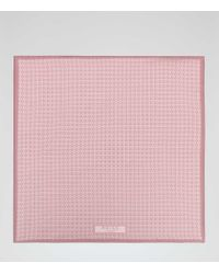 Reiss - Pink Savoy Printed Silk Pocket Square for Men - Lyst