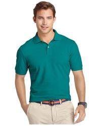 Izod - Green Short Sleeve Premium Pique Polo Shirt for Men - Lyst