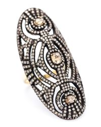 Kirat Young | White Pavé Dimaond Ring | Lyst
