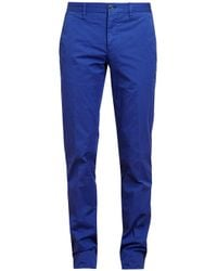 Browns - Blue Cotton Poplin Trousers for Men - Lyst