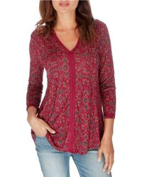 Lucky Brand | Multicolor Relaxed Regal-print Jersey Top | Lyst