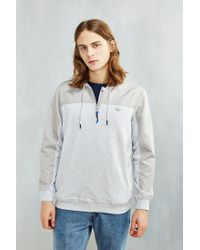 Adidas | Gray Originals Sport Luxe Pieced Sweatshirt for Men | Lyst
