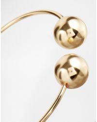 ASOS - Metallic Ball Open Ended Cuff Bracelet - Lyst