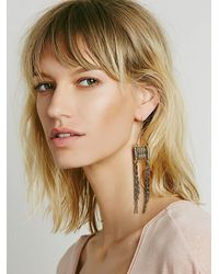 Free People | Metallic Dolly Chain Earring | Lyst