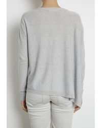 INHABIT | Gray Fine Gauge Asymmetric Cardigan | Lyst