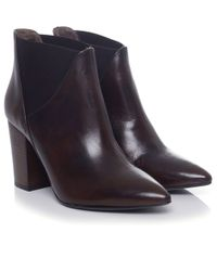 H by Hudson | Brown Crispin Ankle Boots | Lyst