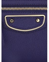 Balenciaga - Blue Giant Money Edge-Line Leather Zip Wallet - Lyst