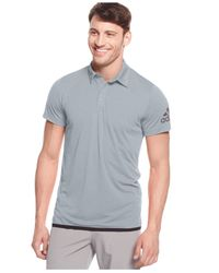 Adidas | Gray Men's Solid Climachill Tennis Polo for Men | Lyst