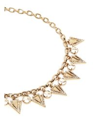 Lulu Frost - Metallic 'istria' Crystal Pavé Arrow Glass Dome Necklace - Lyst