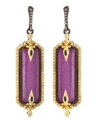 Armenta | Purple Lavenderite & White Quartz Doublet Drop Earrings | Lyst