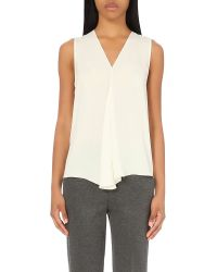 Theory | White Meighlan Silk Wrap Top | Lyst