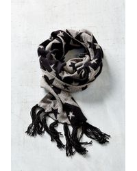 Urban Outfitters | Black Kitschy Intarsia Oblong Scarf | Lyst