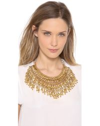 Aurelie Bidermann | Metallic Heart Beaded Bib Necklace | Lyst