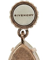 Givenchy | Blue Cone Pendant Earrings In Mineral Stone And Crystal | Lyst
