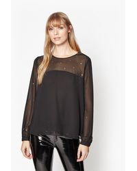 French Connection | Black Arctic Spell Blouse | Lyst