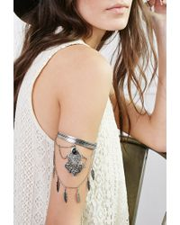 Forever 21 - Metallic Draped Chain Charm Arm Band - Lyst