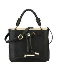 Nine West | Black Sabie Leather Crossbody Bag | Lyst