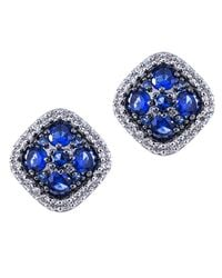 Kenneth Jay Lane | Metallic Round Pave Cushion Studs | Lyst