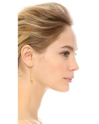 Marc By Marc Jacobs | Metallic Lightning Bolt Threaded Drop Earrings | Lyst