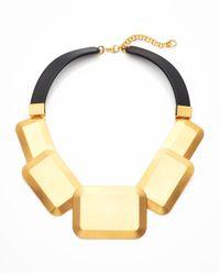 Lafayette 148 New York | Black Metal Geometric Collar Necklace | Lyst