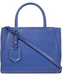 Fendi | Blue Mini 2jour Leather Tote | Lyst