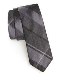 Calibrate - Black 'rhodes Plaid' Silk Blend Tie for Men - Lyst