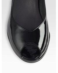 Stuart Weitzman - Black Vase Patent Leather Pumps - Lyst