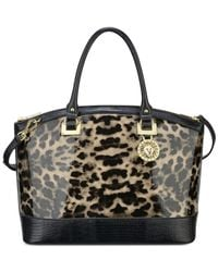 Anne Klein | Black Run Wild Kaley Satchel | Lyst