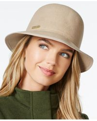 Vince Camuto | Natural Wool Cloche With Grosgrain Trim | Lyst