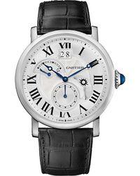 Cartier - Metallic Rotonde De Steel And Alligator-skin Watch - For Men for Men - Lyst