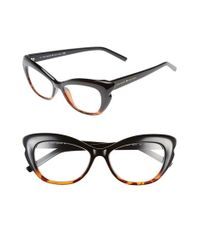 kate spade new york - Black 'alva' 52mm Reading Glasses - Lyst