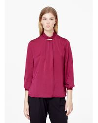 Mango | Purple Turtleneck Blouse | Lyst