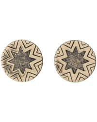 House of Harlow 1960 - Metallic Two-tone Engraved Sunburst Stud - Lyst
