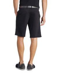 BOSS Green - Black 'liem-w' | Regular Fit, Stretch Cotton Blend Shorts for Men - Lyst